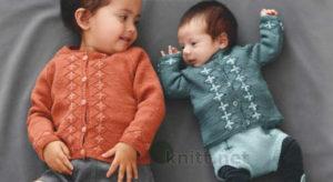 Вязаный кардиган для малыша