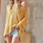 Вязаный пуловер Oversize