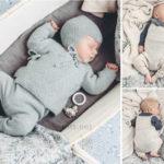 Вязаный жакет и комбинезон для малыша