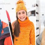 Вязаная шапка и пуловер
