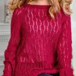Вязание ажурного свитера