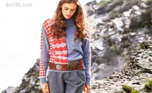 Вязание пуловера с жаккардовым узором