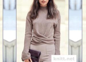 Вязаный монохромный пуловер