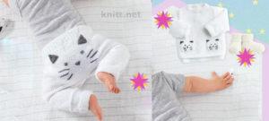 Детский комплект с узором котик