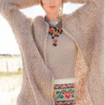 Объемное плюшевое пальто и платье с вышивкой
