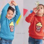 Пуловер с аппликацией для мальчика и девочки