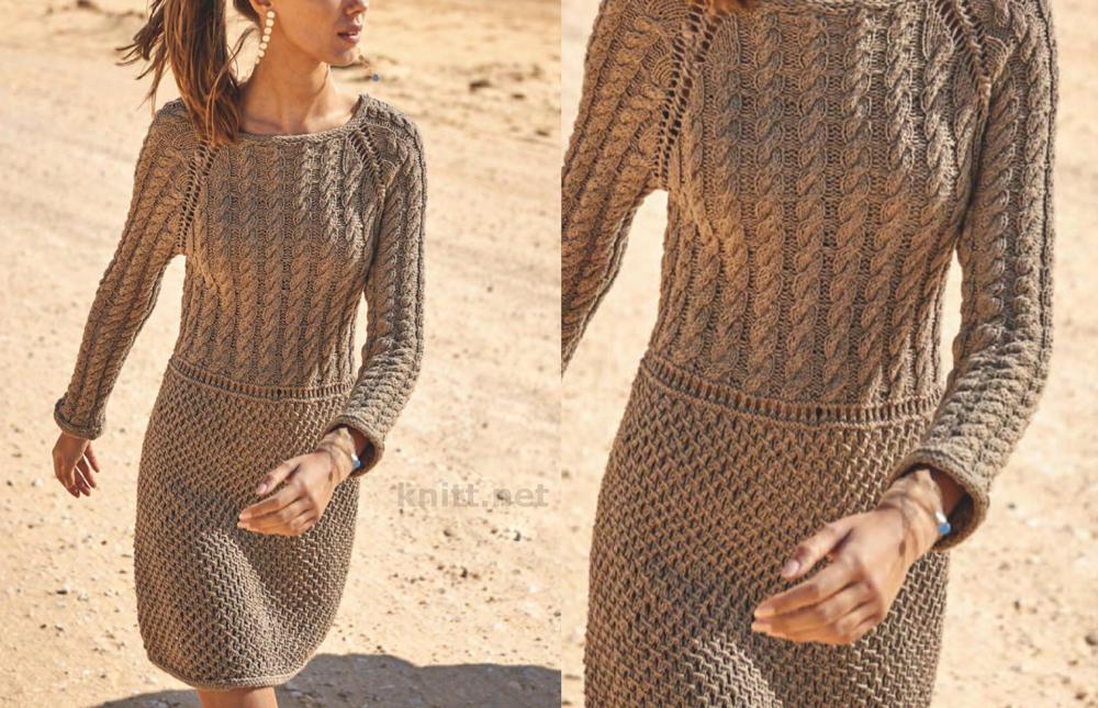 Платье с коллажем рельефных узоров