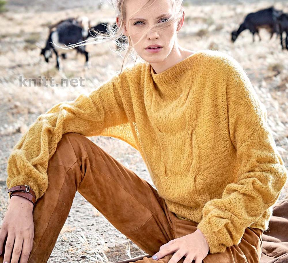Пуловер рукавами-баллон