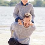 Пуловер для мужчины жемчужный узор